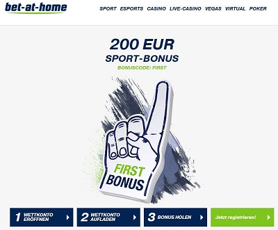 Bet-at-home 200€ Neukundenbonus