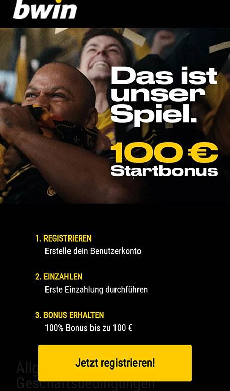 Startbonus bei Bwin Bundesliga Wetten