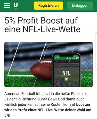 Super Bowl Livewette Profit Boost Unibet