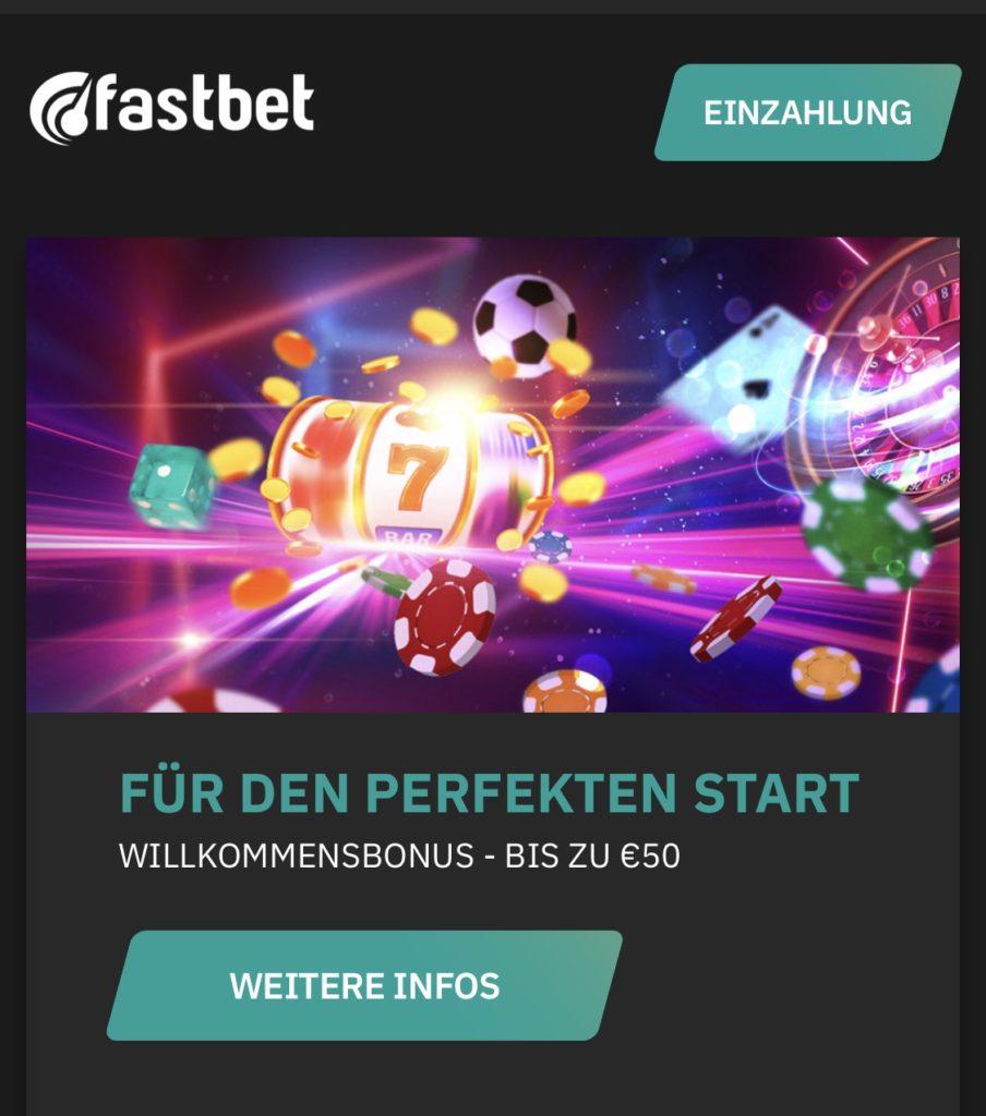 Fastbet-Neukundenbonus