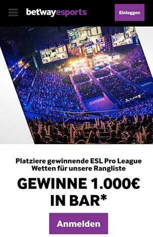 betway esports aktion