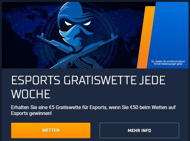 eSports Gratiswetten bei STSbet