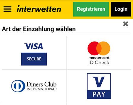 Sportwetten mit Kreditkarte bei Interwetten