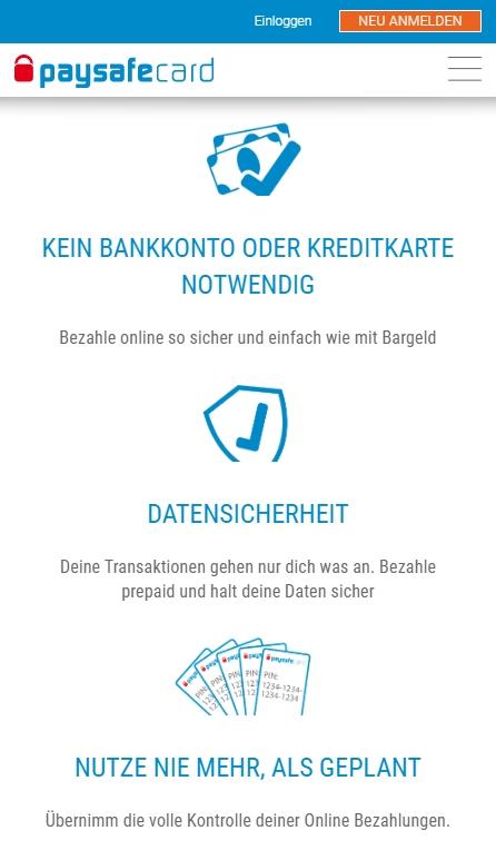 Paysafecard Zahlungen