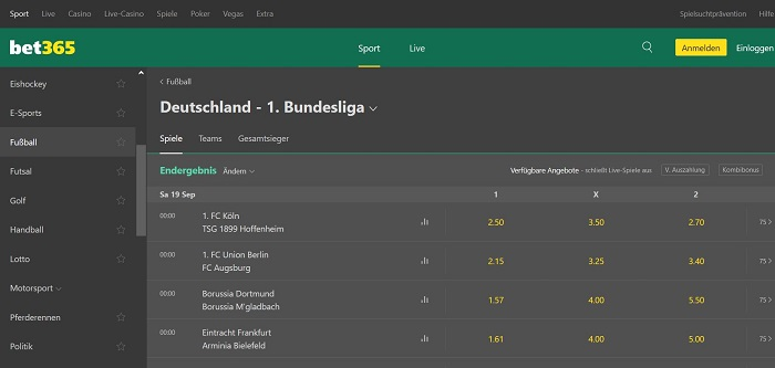 Bet365 Home Fussball