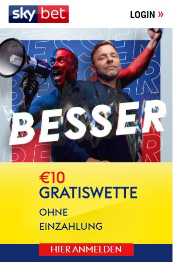 Skybet 10€ Gratiswette
