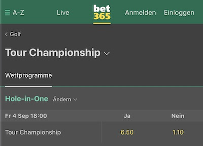 Bet365 Hole in One Wette
