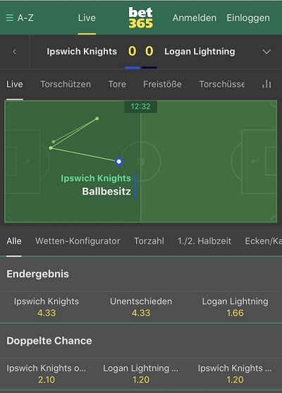 Bet365 Livewetten Animation