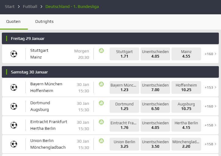 Bundesliga bei Netbet