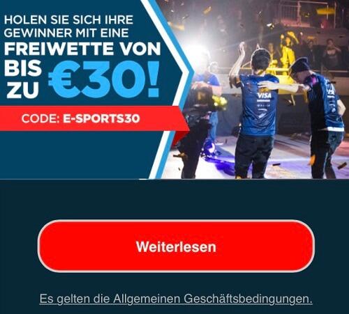 Eaglebet Freiwetten für eSports
