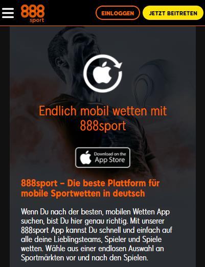 888Sport App iOS