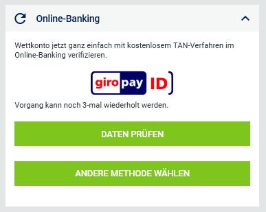 Bet-at-home Verifizierung Kontoeröffnung Anmeldung Login Online banking