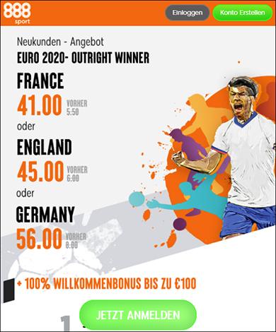 888sport euro sieger quotenboost 2021