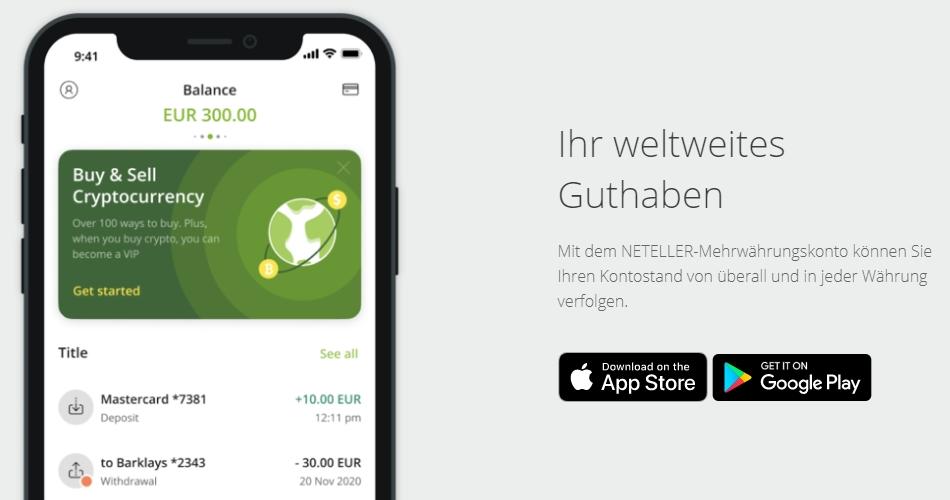 Bei Bwin mit Neteller App auszahlen