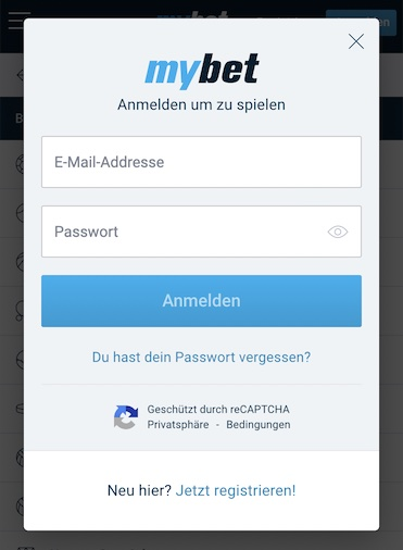 mybet app login