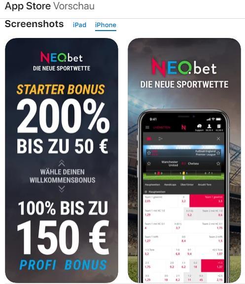 Neobet iOS App