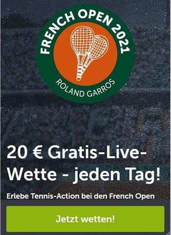 comeon Tennis Gratiswette