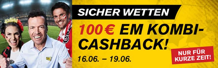 Interwetten Kombi Cashback Bonus Euro 2021 21