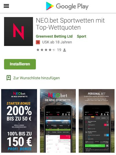 Neobet Android App