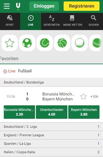 Unibet Bundesliga live