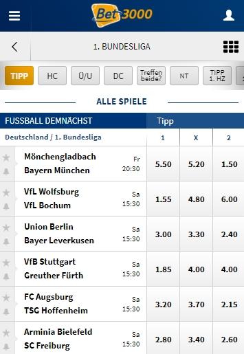 Bet3000 Bundesliga