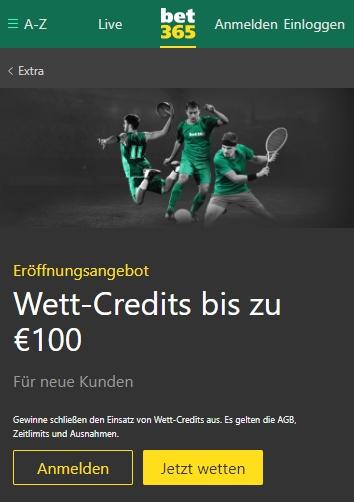 Bet365 Credits