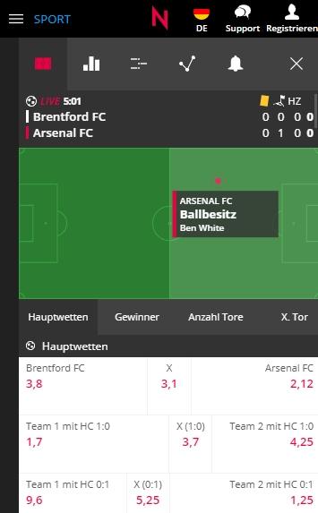 Neobet Fußball live